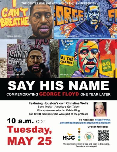 George Floyd - Say His Name Commemoration 2021.png