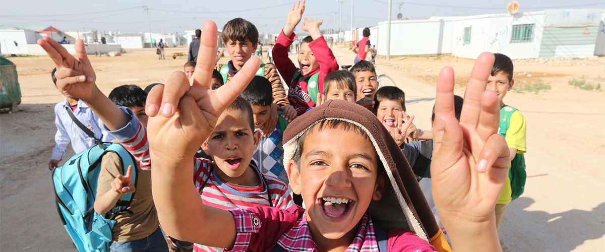UN Intnl Day of Peace 2019 - Children in Zataari Camp in Jordan.png